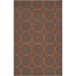 Hand-hooked Orange Mackay Indoor/Outdoor Moroccan Trellis Rug (8' x 10')