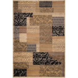 Woven Brown Heres Olefin Rug (5'3 x 7'3)