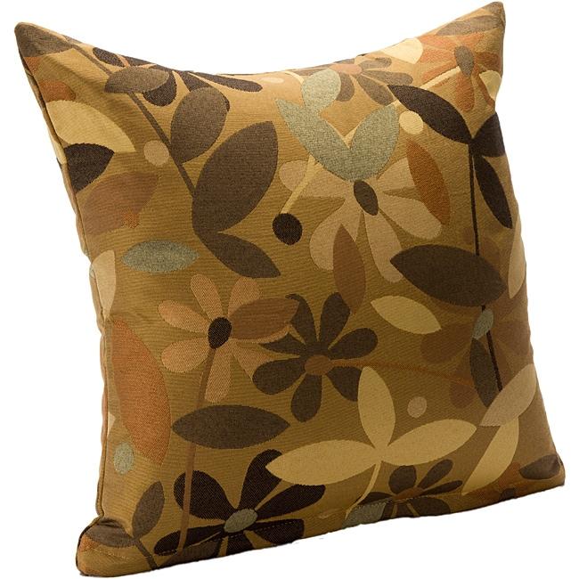 Full Bloom (20 x 20) Retro Accent Pillow