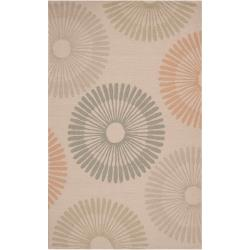 Hand-hooked Tan Boyer Indoor/Outdoor Geometric Rug (8' x 10')
