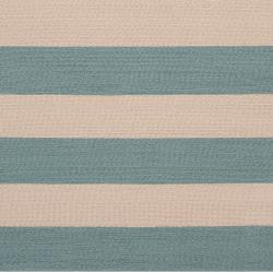 Hand-hooked Blue Maligne Indoor/Outdoor Stripe Rug (8' x 10')