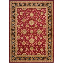 Woven Red Helminth Olefin Rug (5'3 x 7'3)