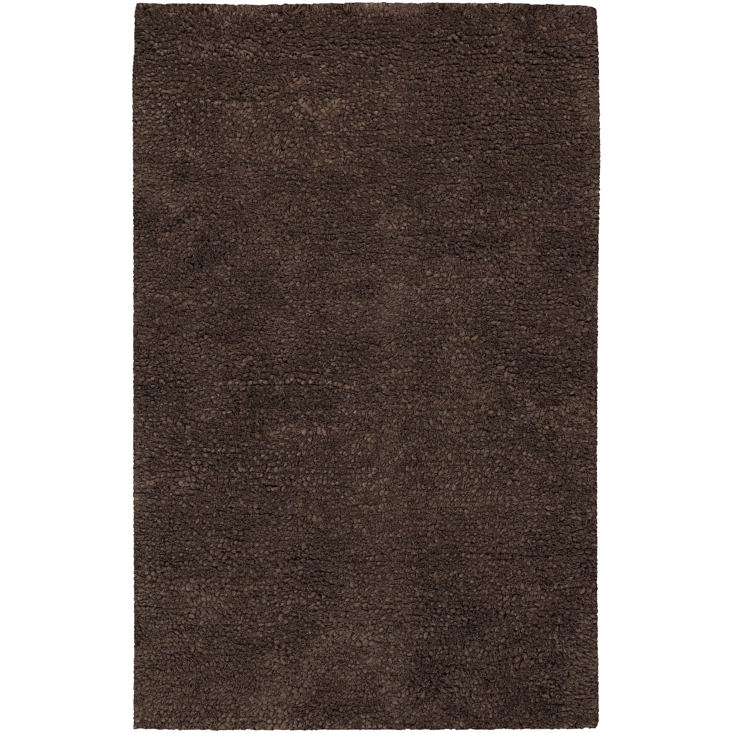Hand-woven Metropoli Black New Zealand Wool Plush Shag Rug (3'6x 5'6)