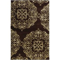 Bob Mackie Hand-tufted Brown Glosso New Zealand Wool Rug (3'3 x 5'3)