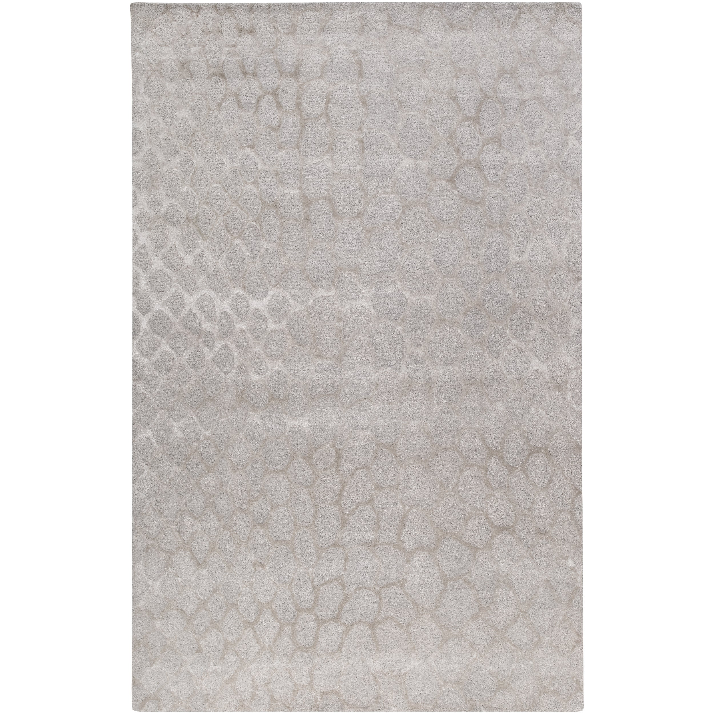 Bob Mackie Hand-tufted Contemporary Grey Gephy New Zealand Wool Abstract Rug (8' x 11')
