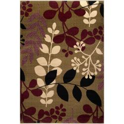 Hand-tufted Tan Gallo Polyester Rug (2'6 x 8')