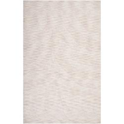 Hand-crafted Solid White Casual Mystique Wool Rug (5' x 8')