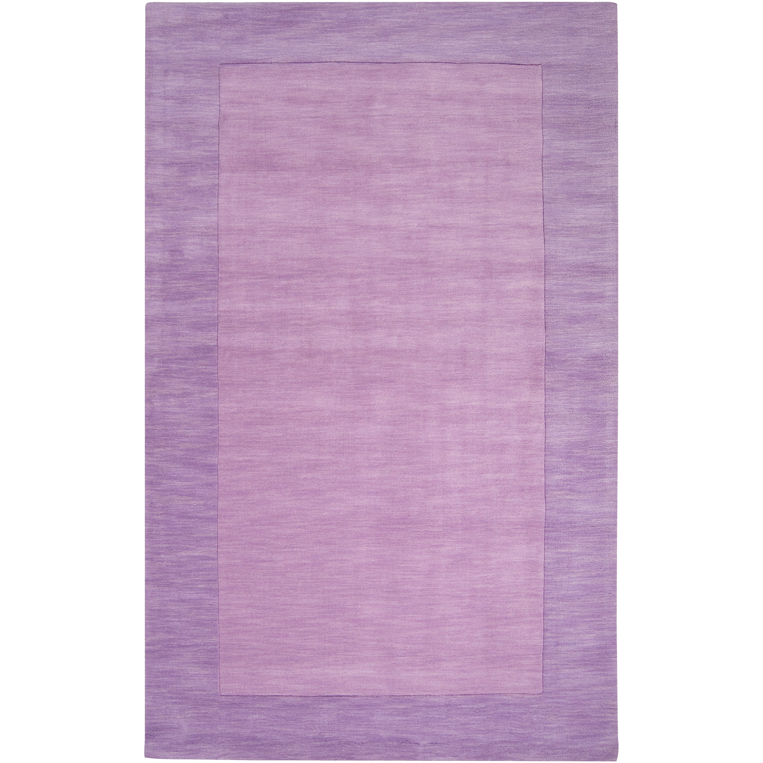 Hand-crafted Purple Tone-On-Tone Bordered Emeto Wool Rug (9' x 13')