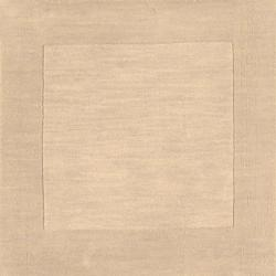 Hand-crafted Beige Tone-On-Tone Bordered Disposo Wool Rug (8' x 11')