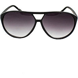 Women's Black Shield Sunglasses