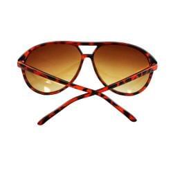 Women's Shield Brown Leopard Sunglasses