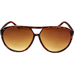Women's Shield Brown Leopard Sunglasses