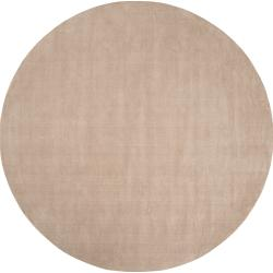 Hand-crafted Beige Solid Casual Dipson Wool Rug (9'9 Round)