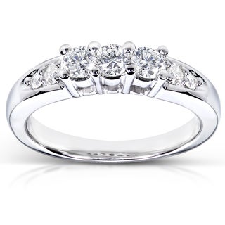 Annello 14k White Gold 3/8ct TDW Diamond Ring (G-H, I1-I2)