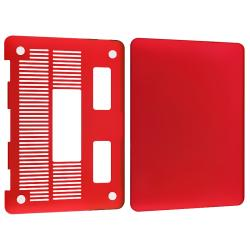 Red Snap-on Rubber Coated Case for Apple MacBook Pro 13-inch