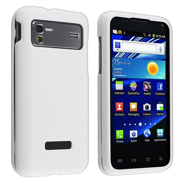 White Snap-on Rubber Coated Case for Samsung Captivate Glide i927