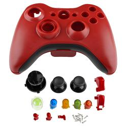 Red Shell with Buttons for Microsoft xBox 360 Controller Case