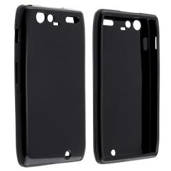 Black TPU Rubber Skin Case for Motorola Droid RAZR Maxx XT916