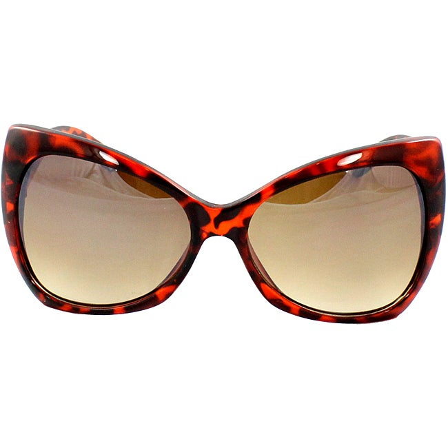 Women's Brown Butterfly Sunglasses