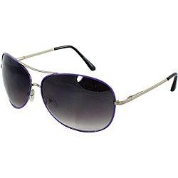 Purple Aviator Sunglasses with Purple-black Lenses