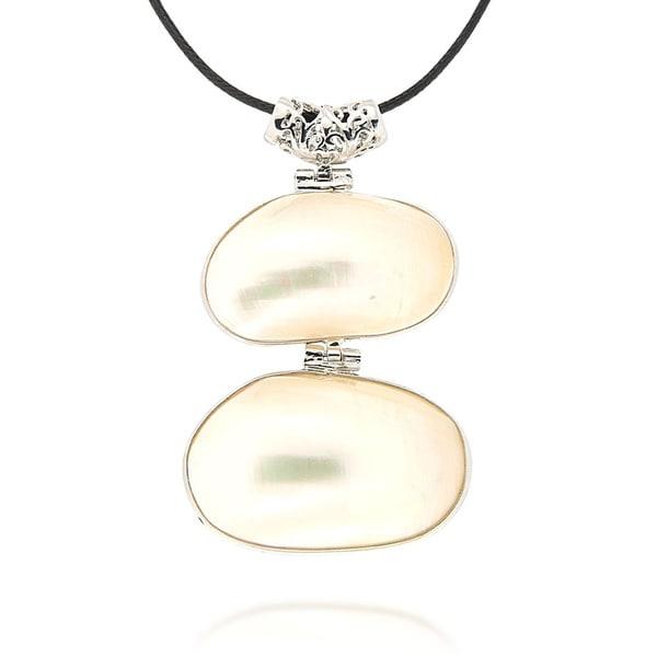 Pearlz Ocean Double White Shell Fashion Pendant