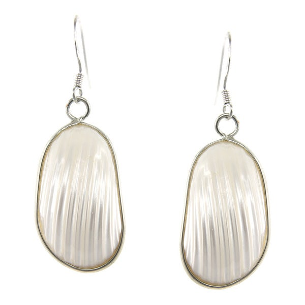 Pearlz Ocean White Shell Dangle Earrings