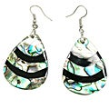 Pearlz Ocean Abalone Shell Pear Dangle Earrings