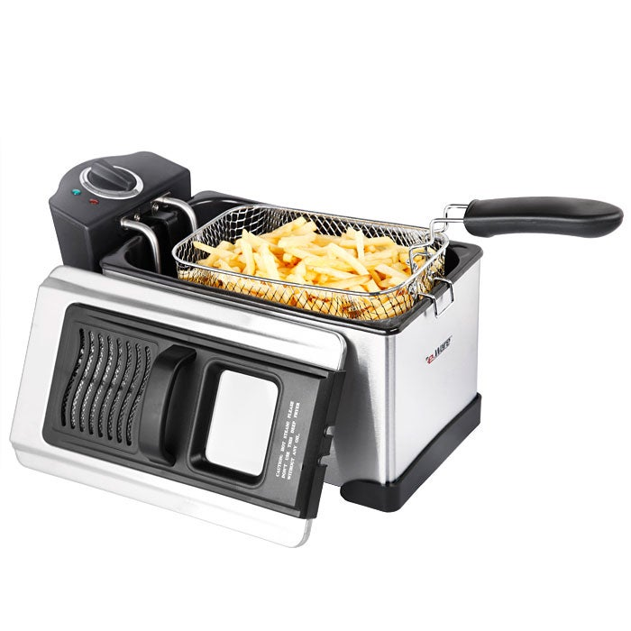 Eware E-Ware Stainless Steel Detachable Oil Tank 13-cup Deep Fryer at Sears.com