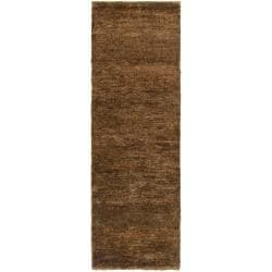 Long Handwoven Brown Ichthy Natural Fiber Hemp Rug