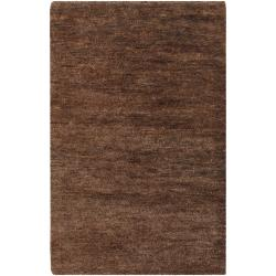 Hand-woven Brown Ichthy Natural Fiber Hemp Rug