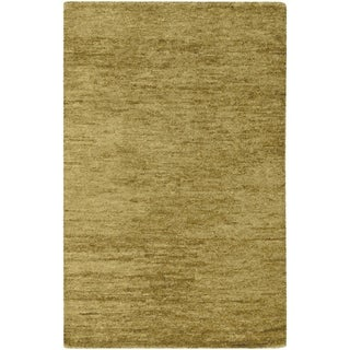 Illyengo-913 Handwoven Green Natural-Fiber Hemp Rug