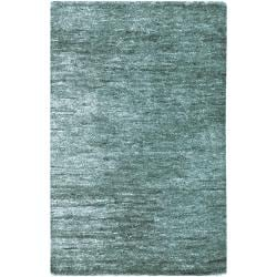 Hand-woven Blue Isolo Natural Fiber Hemp Rug