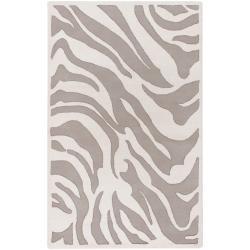 B. Smith Hand-tufted Zebra Animal Print Ihypallop Wool Rug (5' x 8')