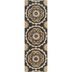 B. Smith Hand-tufted Grey Kategelo New Zealand Wool Rug (2'6 x 8')