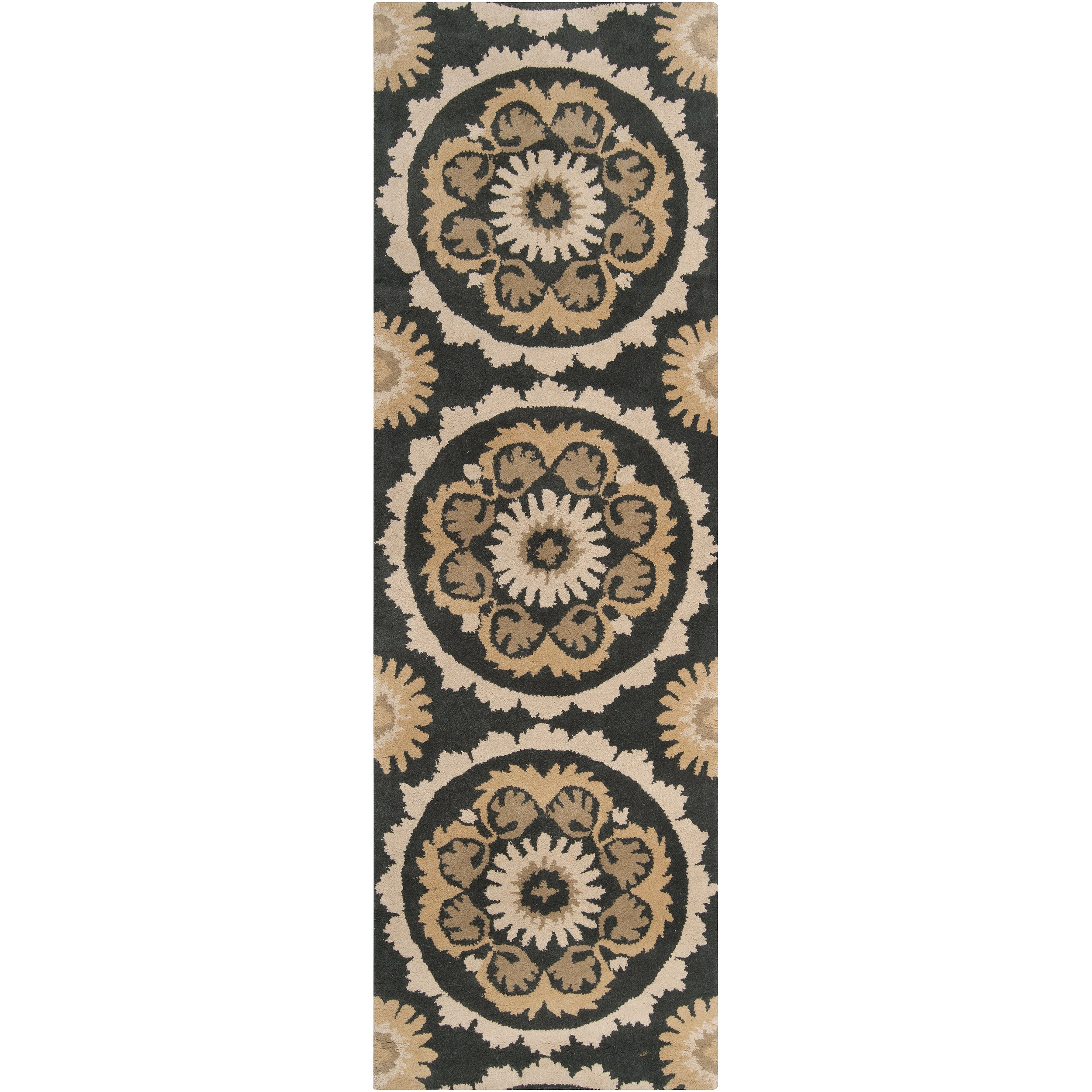 B. Smith Hand-tufted Grey Kategelo New Zealand Wool Rug (2'6 x 8')