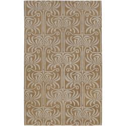 Hand-tufted Grey Lysso New Zealand Wool Rug (9' x 13')