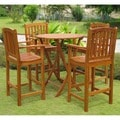 International Caravan Royal Tahiti Pontevedra 5-peice Patio Dining Set