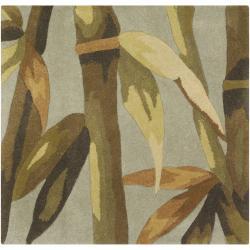 Hand-tufted Green Garlick Wool Rug (3'6 x 5'6)