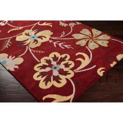 Hand-tufted Red Centennial Wool Rug (5' x 8')