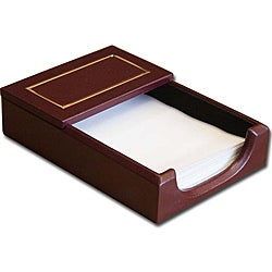 Dacasso Burgundy 24KT Gold Tooled Leather 4x6 Memo Holder