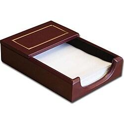 Dacasso Burgundy 24KT Gold Tooled Leather 4x6 Memo Holder