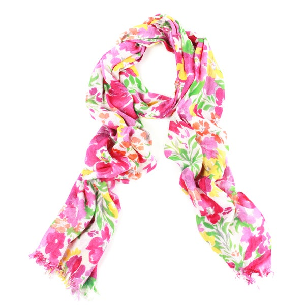 Watercolor Handmade Scarf (India)