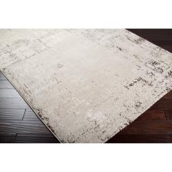 Meticulously Woven Vintage Grey Contemporary Crockery Abstract Rug (5'3 x 7'3)