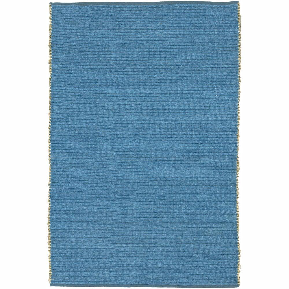 Hand-woven Mandara Blue Rug (3'6 x 5'6)