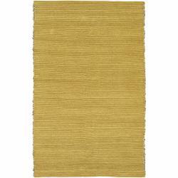 Handwoven Mandara Green Area Rug (5' x 7'6)