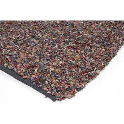 Hand-woven Mandara Multi Shag Rug (7'9 x 10'6)