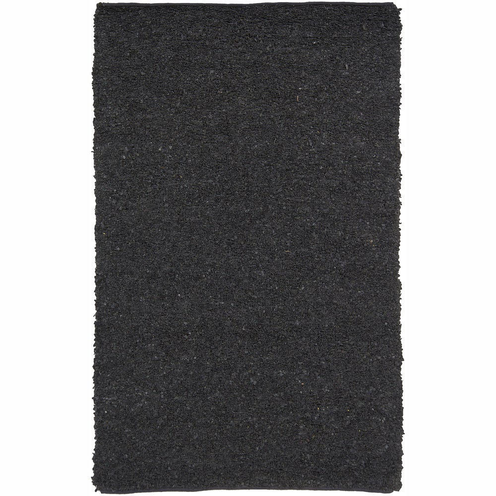 Artist's Loom Hand-woven Natural Eco-friendly Leather Shag Rug (5'x7'6)