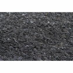 "Handwoven Mandara Black Leather Shag Rug (7'9"" x 10'6"")"