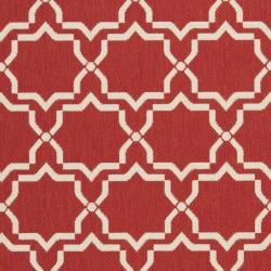 Poolside Red/ Bone Indoor Outdoor Rug (9' x 12')