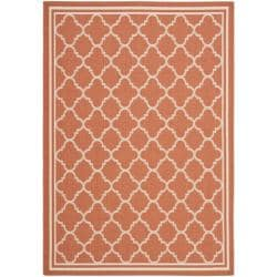 Poolside Terracotta/ Bone Indoor Outdoor Rug (4' x 5'7)